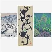 Toshi Yoshida - Three woodblock Prints