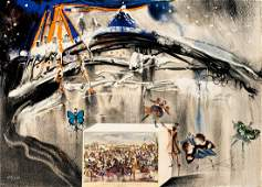 Salvador Dali  Central Park Winter from Currier and