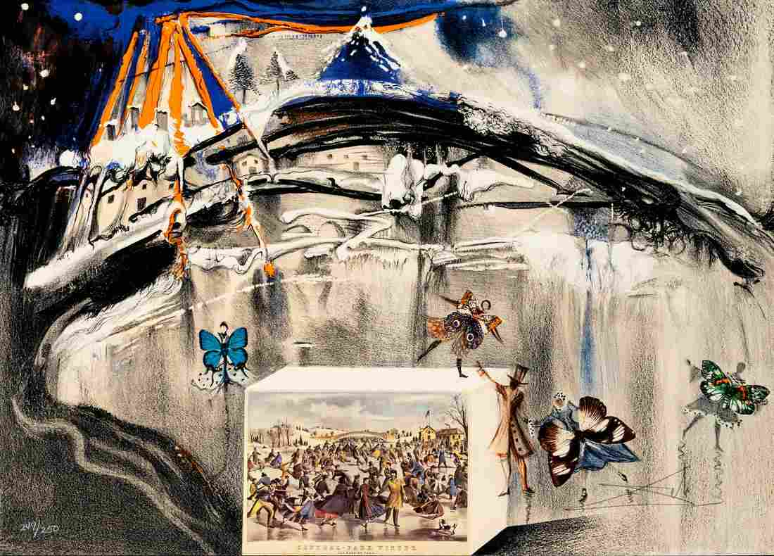 Salvador Dali - Central Park Winter (from Currier and