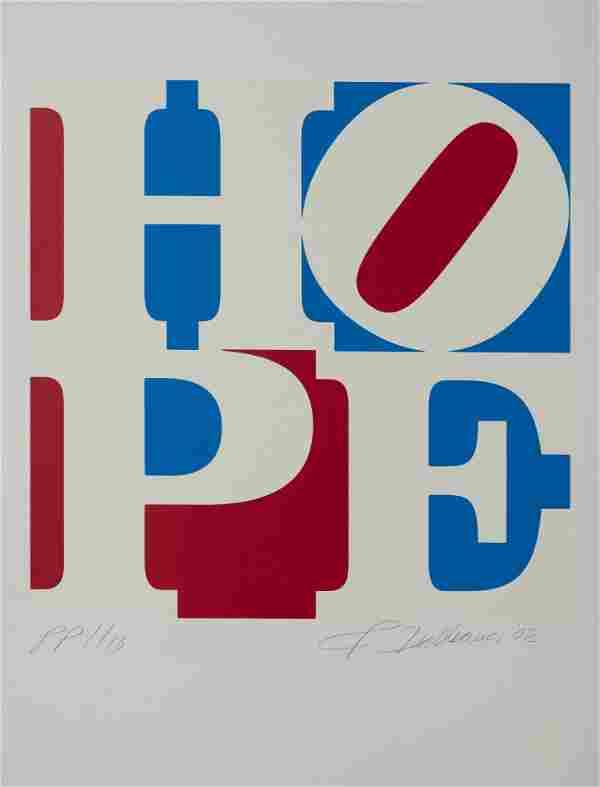 Robert Indiana - HOPE (red-white-blue)