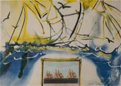 Salvador Dali - Currier & Ives series: American Yacht