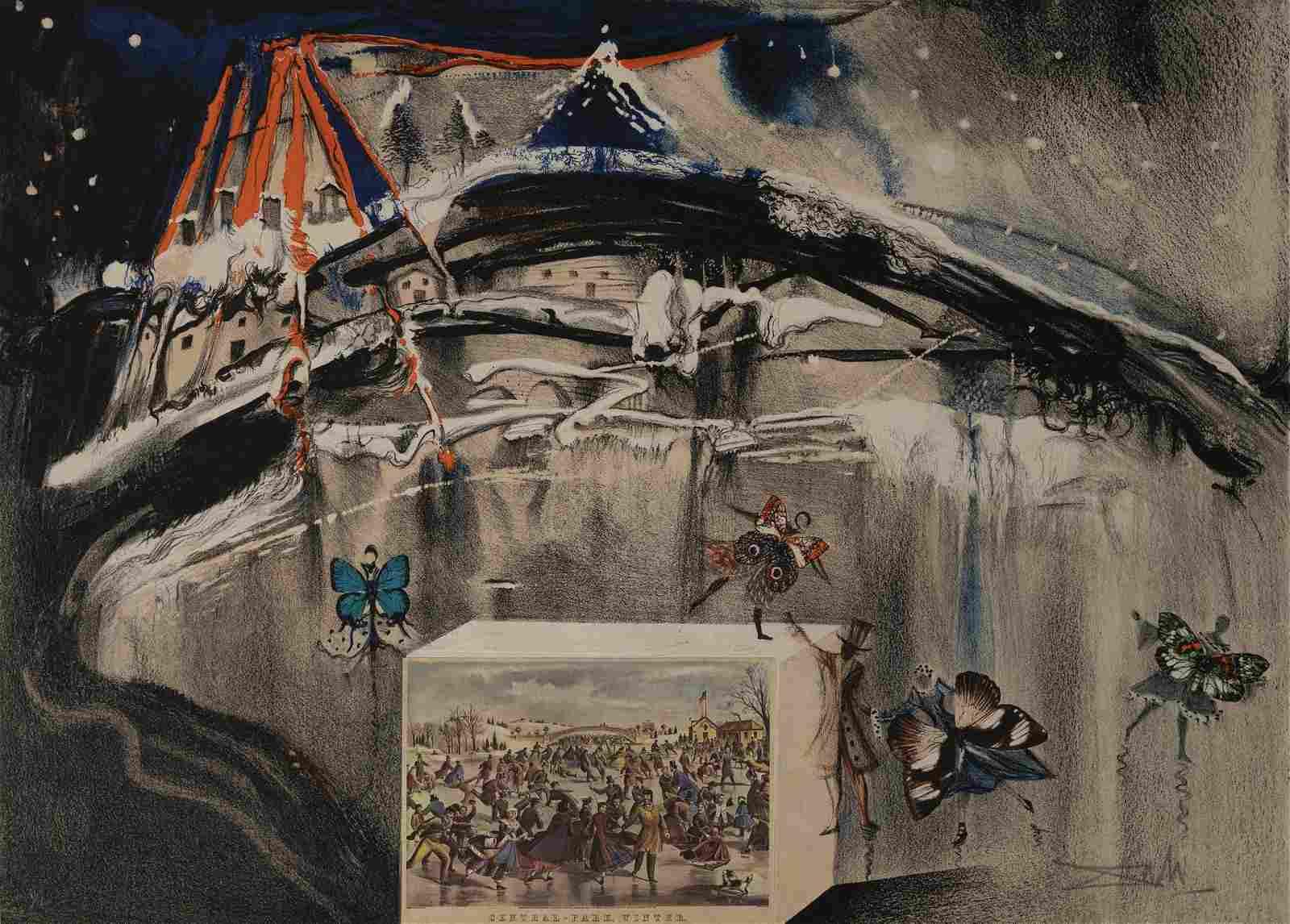 Salvador Dali - Currier & Ives series: Central Park,