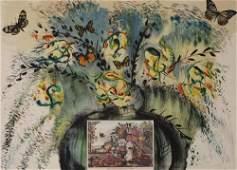 Salvador Dali - Currier & Ives series: Les Fleurs Et