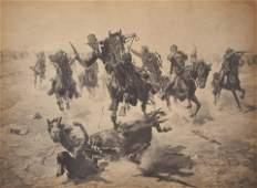 Charles Schreyvogel  Untitled Horse down