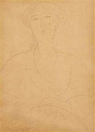 Amedeo Modigliani - Buste de Jeune Fille