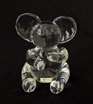 Lloyd Atkins for Steuben Glass - Koala Bear