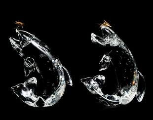James Houston for Steuben Glass - Group of Two (2)