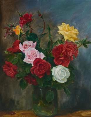 Unknown Artist - Roses Still Life