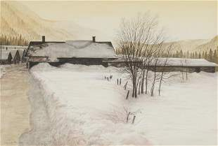 Reynolds Thomas - Untitled (Snowy road)