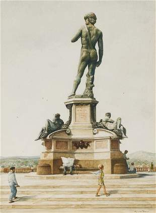 Reynolds Thomas - Untitled (Bronze David at Piazzale