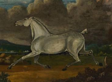 Artist Unknown - White Racehorse