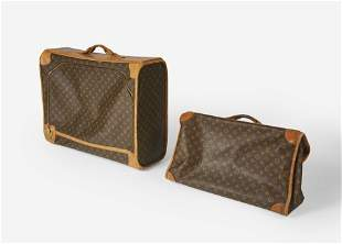 Louis Vuitton  - vintage set of soft sided luggage