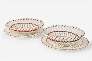 Wedgwood - Pair of Queen's Ware Fruit Baskets with