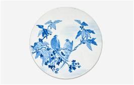 A Chinese Republic Era Porcelain Tile 20th Century