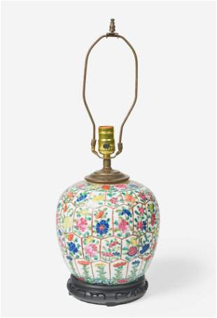 A Chinese Export Ceramic Jar with Floral Motif