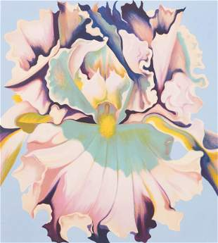 Lowell Nesbitt - Untitled (Square Iris)