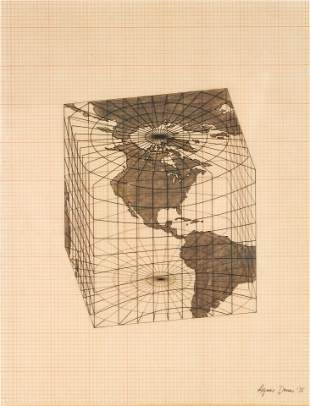 Agnes Denes - Study of Distortions; Isometric Systems