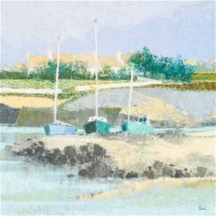 Unknown Artist - Harbor Scene