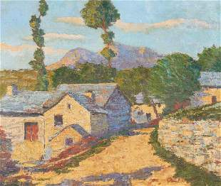 Unknown Artist - Mediterranean Village Scene