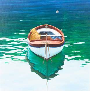 Unknown Artist - Untitled (Docked Boat)
