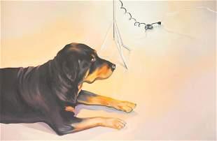 Lowell Nesbitt - Echo I (Rottweiler)