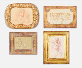 Artist Unknown - Group of Four Cherub Drawings