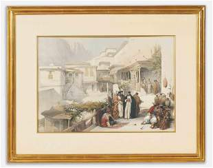 David Roberts - 'Convent of St. Saba', print from 'The