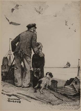 Norman Rockwell - Looking out to sea