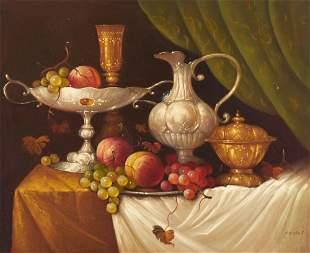 József Molnár - Still life with Fruit