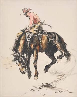 Pál Fried - Bronco Rider (Study #7)
