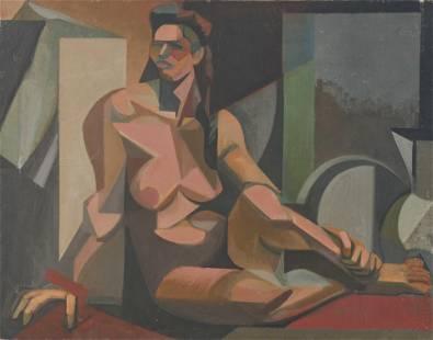 Leonard Alberts - Seated Nude