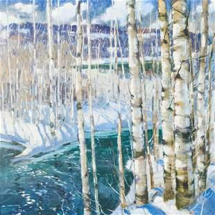 Jonas Lie - Birch Trees