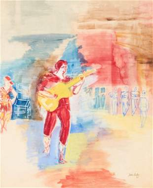 Jean Dufy - Untitled (Guitar Player)
