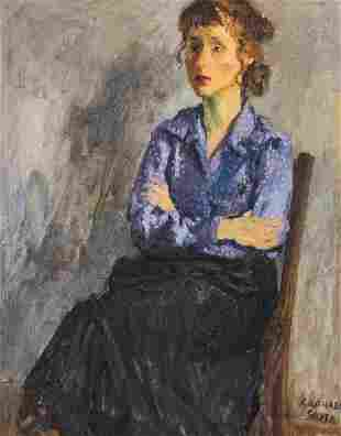 Raphael Soyer - Untitled (Seated Woman)