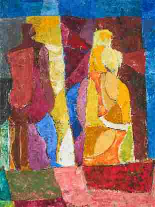 James Daugherty - Two Figures in Synchromy