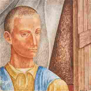 Michael Loew - Detail for Mural (Social Security