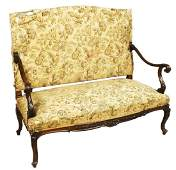 FRENCH WALNUT LOVE SEAT