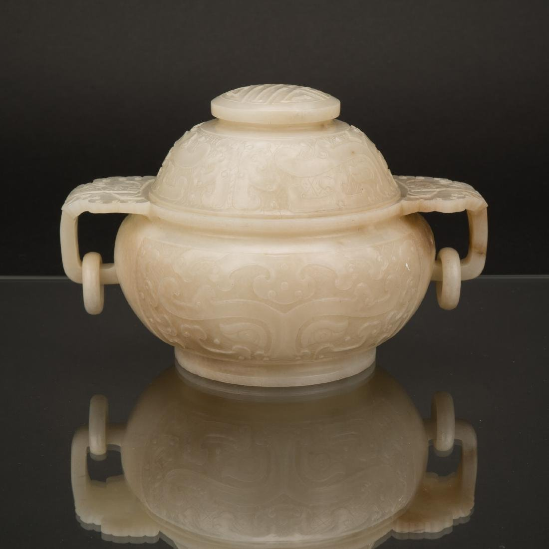 QING MAGNIFICENT JADE COVERED CENSER
