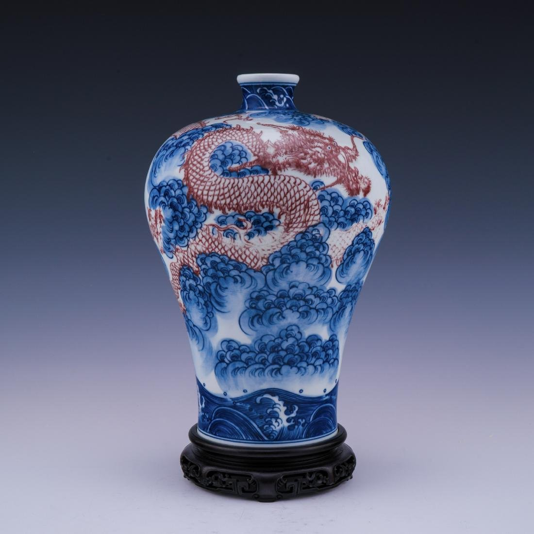 YONGZHENG IMPERIAL MEIPING BLUE & WHITE