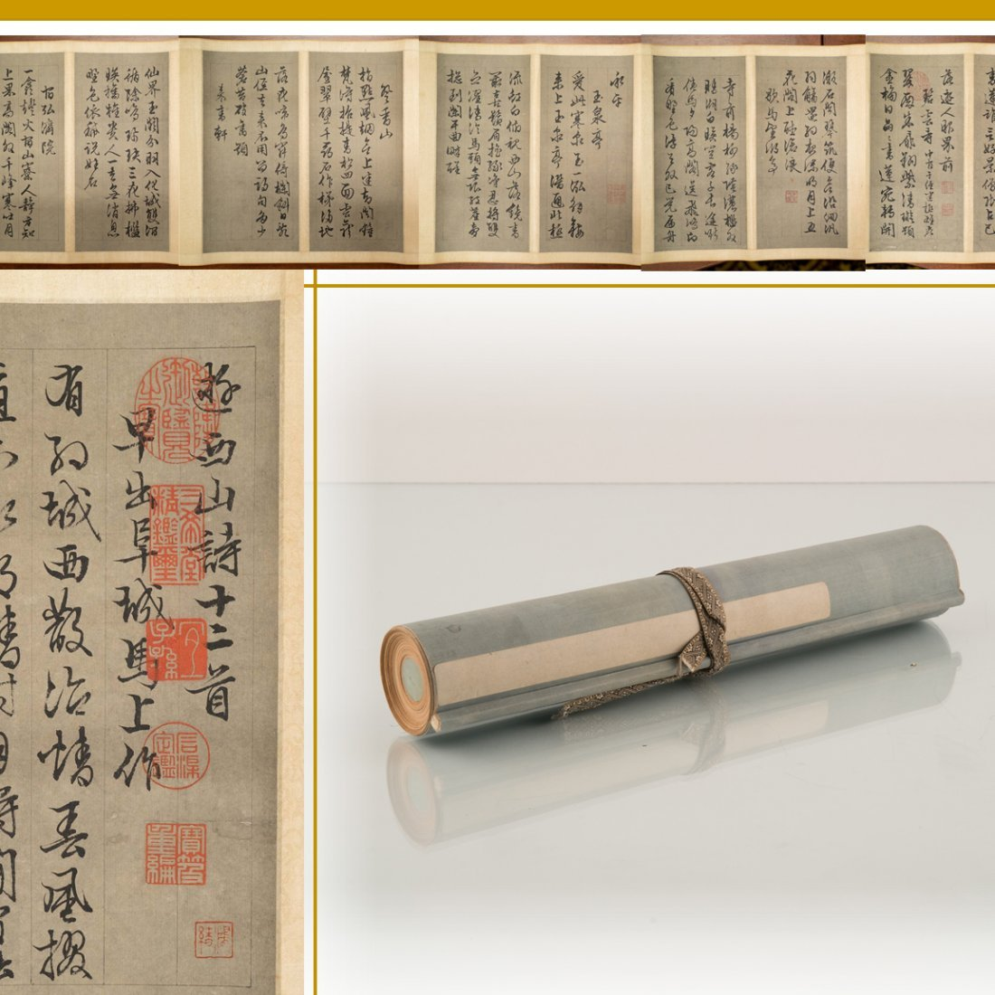 CHINESE CALLIGRAPHY LONG HAND SCROLL