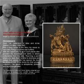 15TH C. MING GILT BRONZE POTALAKA AVALOKITESVARA BUDDHA