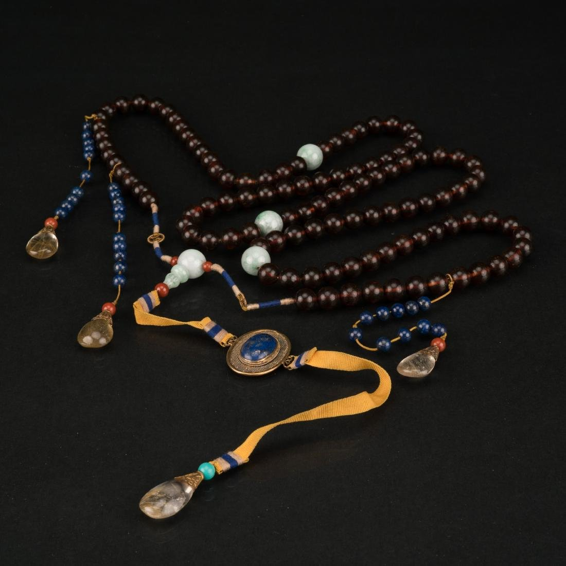 QING AMBER CHAOZHU COURT NECKLACE