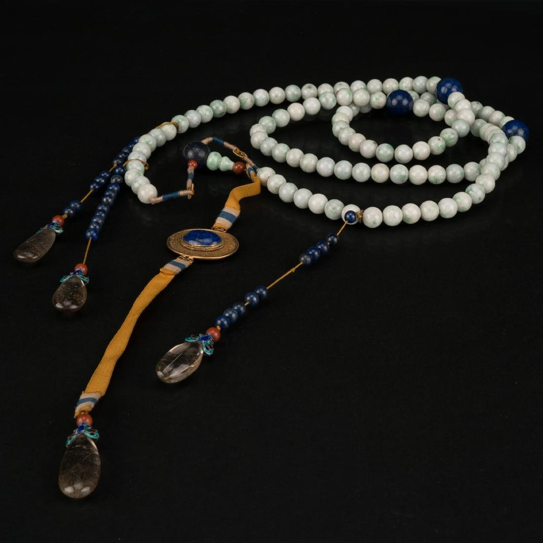 QING JADEITE CHAOZHU COURT NECKLACE