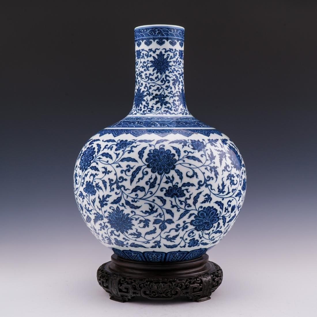 A YONGZHENG BLUE & WHITE LARGE CELESTIAL VASE