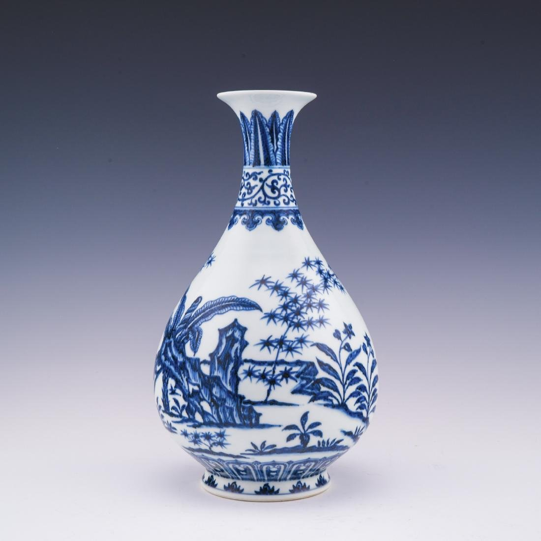 XUANDE BLUE AND WHITE PEAR VASE