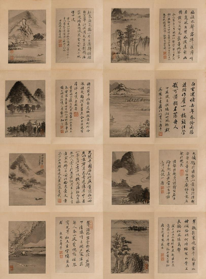 CHINESE PAINTING ALBUM OF LANDSCAPE