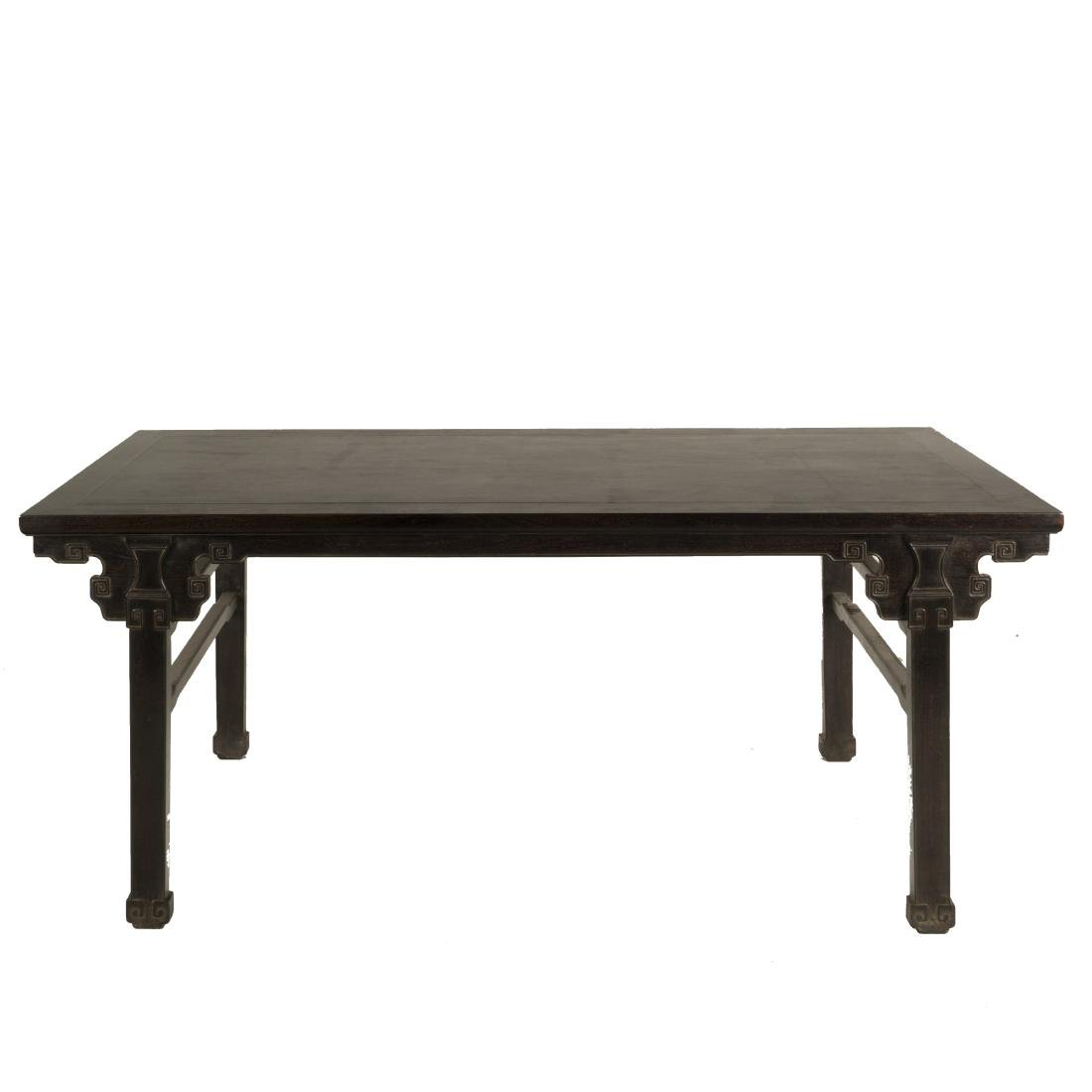 19TH C CHINESE ZITAN SCHOLAR PAINTING TABLE