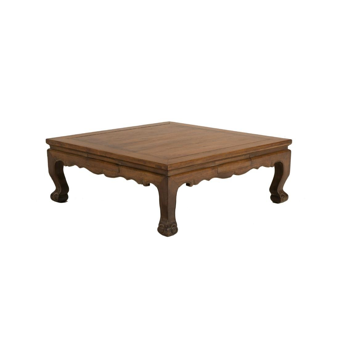A HUANGHUALI LOW-WAISTED GAME TABLE