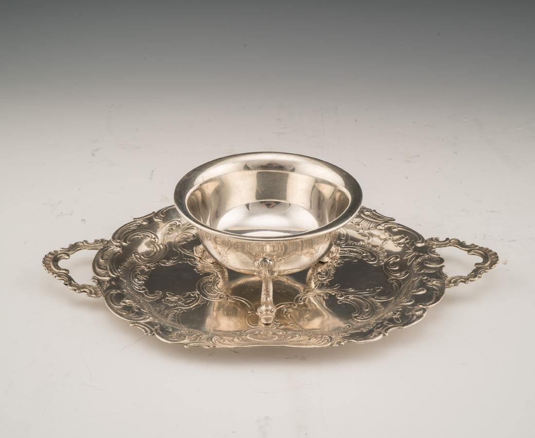 19/20 C GERMAN TUTTLE SILVER CO. DOLPHIN BOWL