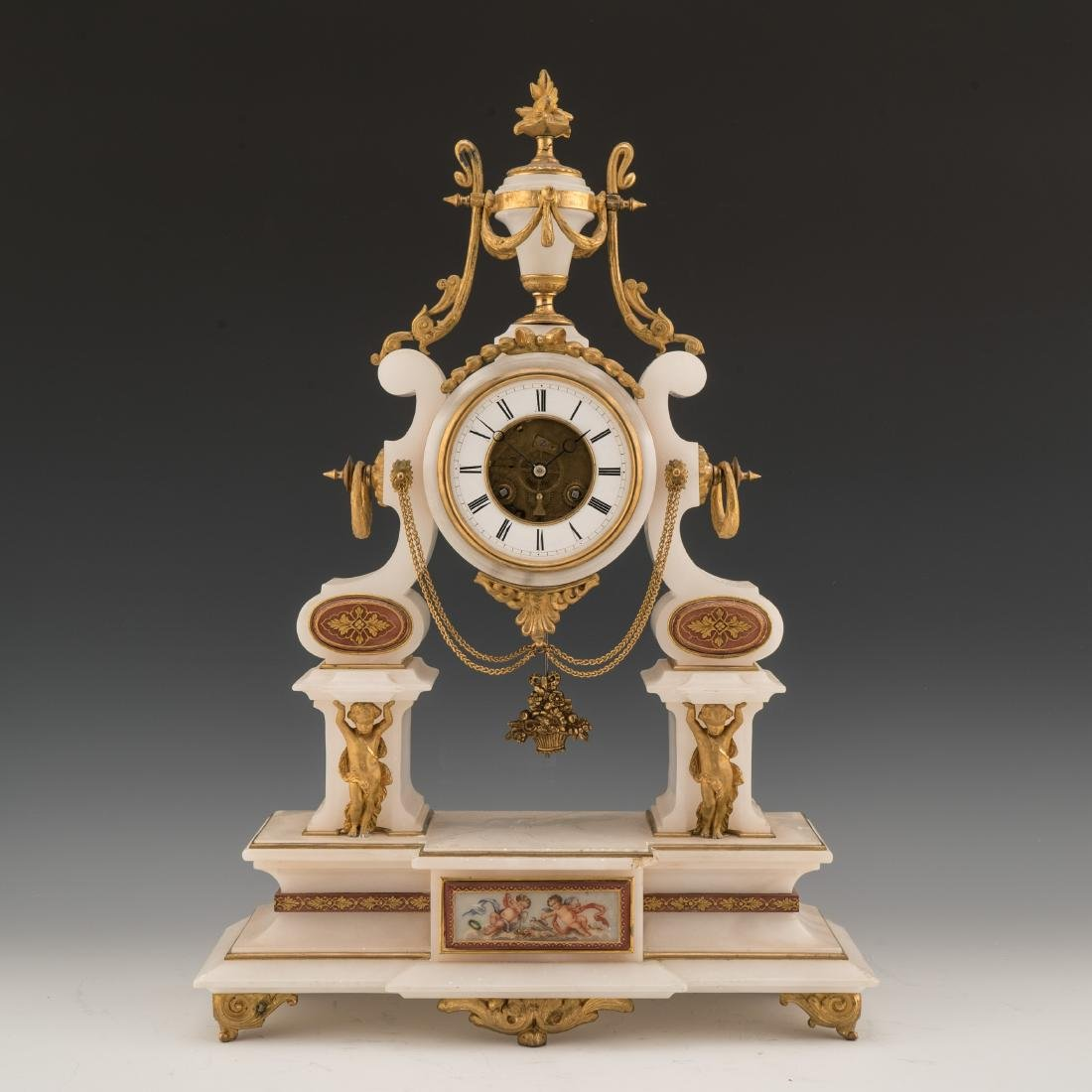 19TH CENTURY LOUIS XVI-STYLE GILT BRONZE AND MARBLE
